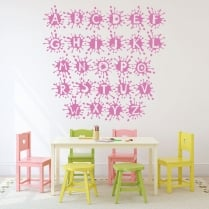 Alphabet Paint Splat Wall Sticker
