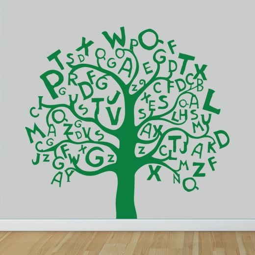 Wall Chimp Alphabet Tree Wall Sticker