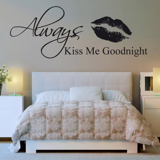 Wall Chimp Always Kiss Me Goodnight Wall Sticker Quote