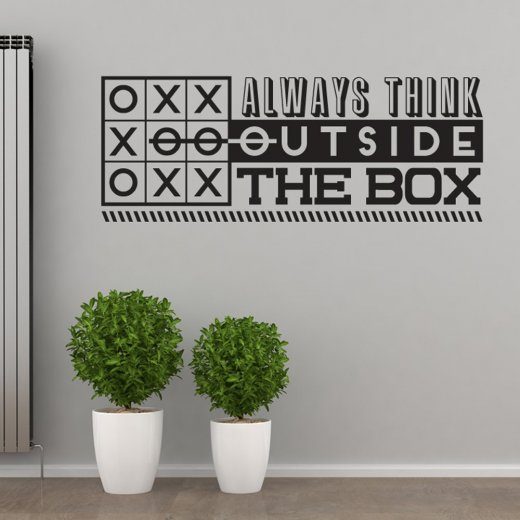 Wall Chimp Always Think Outside The Box Wall Sticker Quote