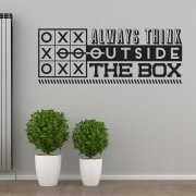 Always Think Outside The Box Wall Sticker Quote