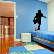 American Footballer Kick Off Wall Sticker