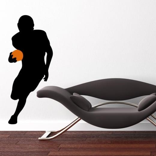 Wall Chimp American Footballer Running Wall Sticker
