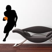 American Footballer Running Wall Sticker
