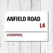 Anfield Road, Liverpool Metal Sign