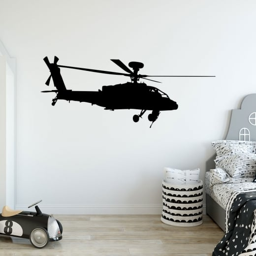 Wall Chimp Apache Helicopter Wall Sticker