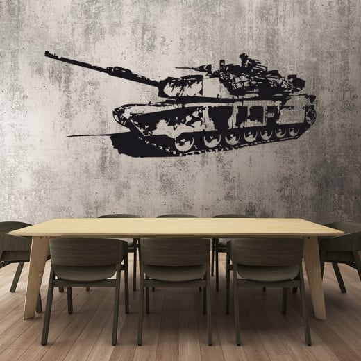 Wall Chimp Army Tank Wall Sticker