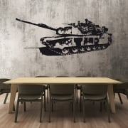 Army Tank Wall Sticker