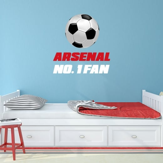 Wall Chimp Arsenal No. 1 Fan Football Printed Wall Sticker