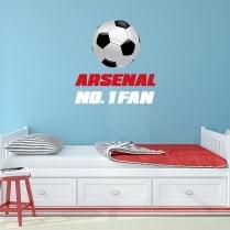 Arsenal No. 1 Fan Football Printed Wall Sticker