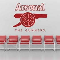 Arsenal The Gunners Printed Wall Sticker