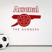 Arsenal The Gunners Wall Sticker