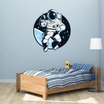 Astronaut Printed Wall Sticker