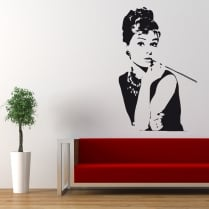 Audrey Hepburn Wall Sticker