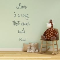 Bambi Wall Sticker Quote