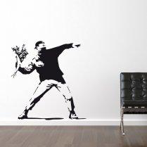 Banksy Flower Thrower Wall Sticker