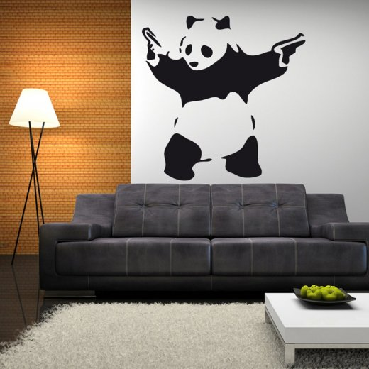 Wall chimp banksy gangster panda wall sticker