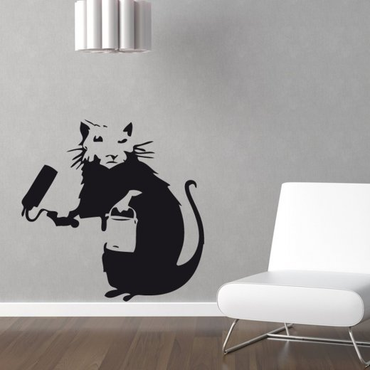 Wall Chimp Banksy High Roller Wall Sticker