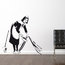 Banksy Maid Wall Sticker
