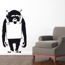 Banksy Monkey Wall Sticker
