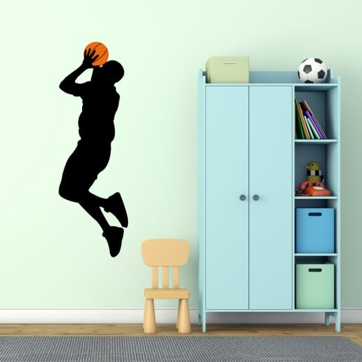 Wall Chimp Basketball Jump Shot Wall Sticker