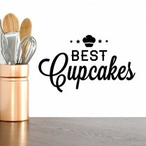 Best Cupcakes Wall Sticker Quote