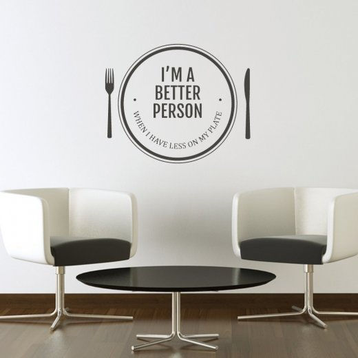 Wall Chimp Better Person With Food Wall Sticker Quote