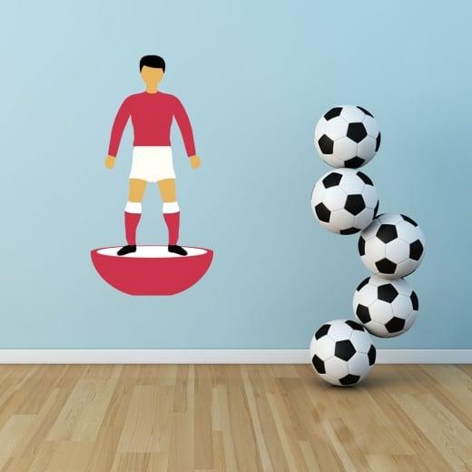 Wall Chimp Big Subbuteo Footballer Printed Wall Sticker