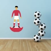 Big Subbuteo Footballer Printed Wall Sticker