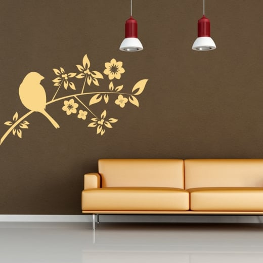 Wall Chimp Bird Tree Wall Sticker