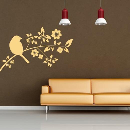 Wall Chimp Bird Tree Wall Sticker