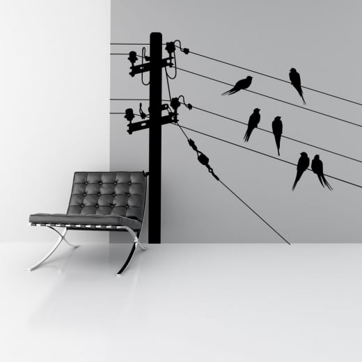 Wall Chimp Birds On A Wire Wall Sticker