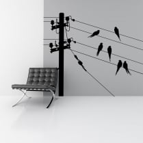 Birds On A Wire Wall Sticker