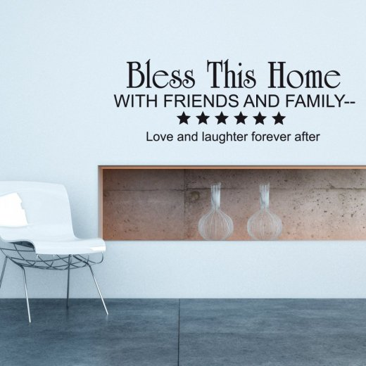 Wall Chimp Bless This Home Wall Sticker Quote