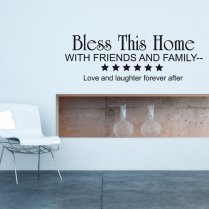 Bless This Home Wall Sticker Quote