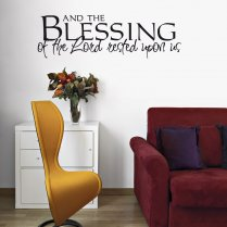 Blessing Of The Lord Wall Sticker Quote