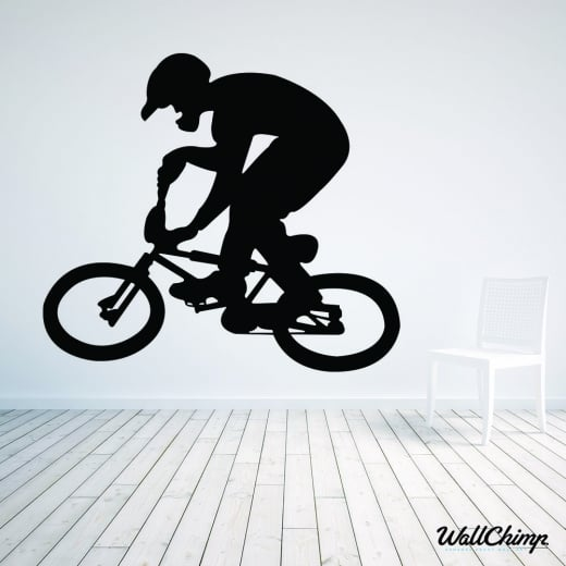 Wall Chimp BMX Bike Rider Wall Sticker