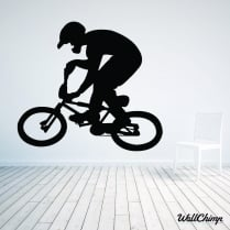 BMX Bike Rider Wall Sticker