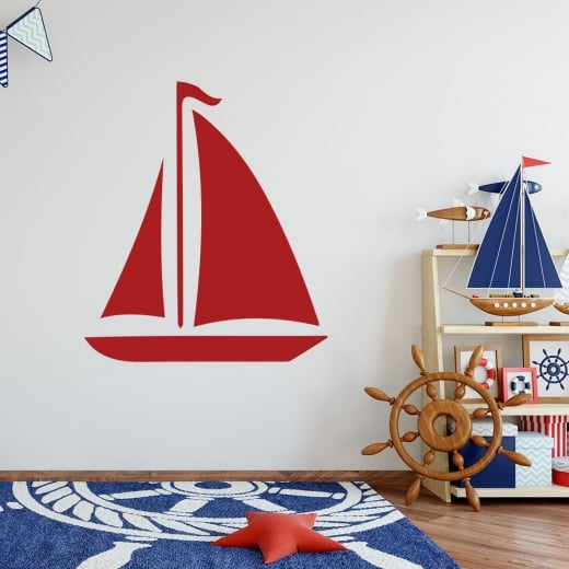 Wall Chimp Boat Wall Sticker