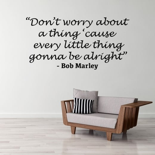 Wall Chimp Bob Marley Motivational Wall Sticker Quote