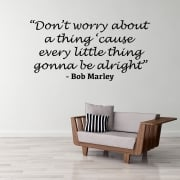 Bob Marley Motivational Wall Sticker Quote
