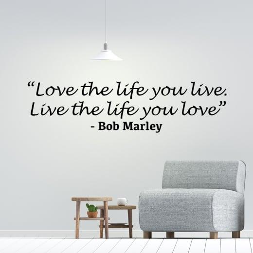 Wall Chimp Bob Marley Motivational Wall Sticker Quote