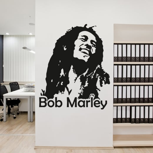 Wall Chimp - Bob Marley Wall Sticker Design