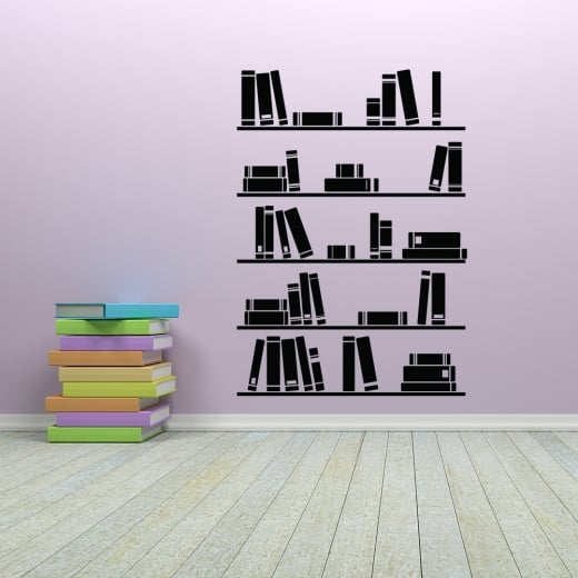 Wall Chimp Book Shelves Wall Sticker
