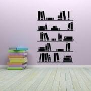 Book Shelves Wall Sticker