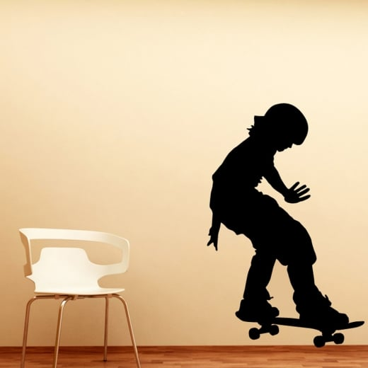 Wall Chimp Boy Skateboarder Wall Sticker