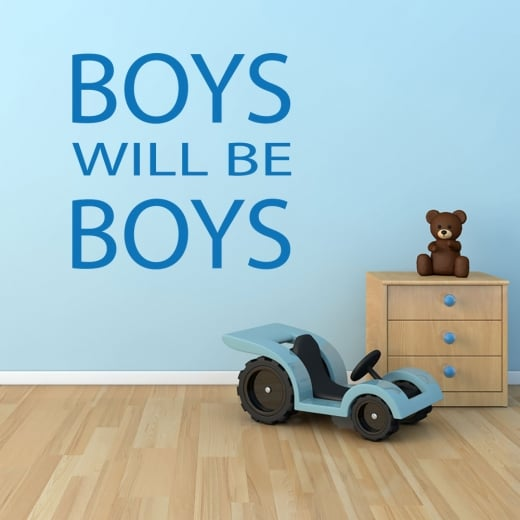 Wall Chimp BOYS WILL BE BOYS Wall Sticker