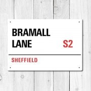 Bramall Lane, Sheffield Metal Sign