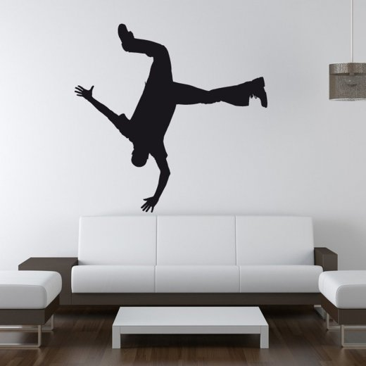 Wall Chimp Break Dancer Hand Stand Wall Sticker