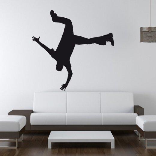 Wall Chimp Break Dancer Hand Stand Wall Sticker